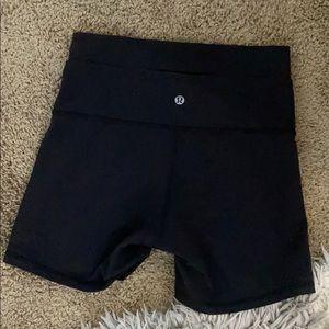 Lululemon wunder under biker shorts seam is 6 inch